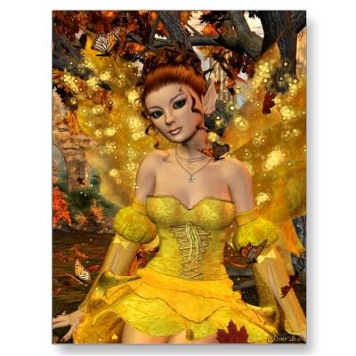 Autumn's Dance Fae Fantasy Art