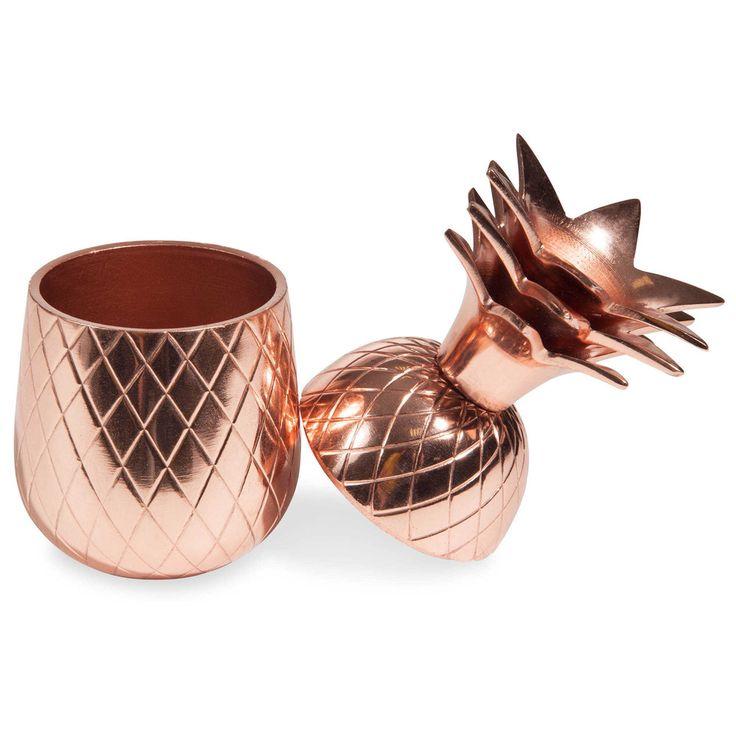 Boîte à bijoux ananas cuivrée COPPER | Maisons du Monde