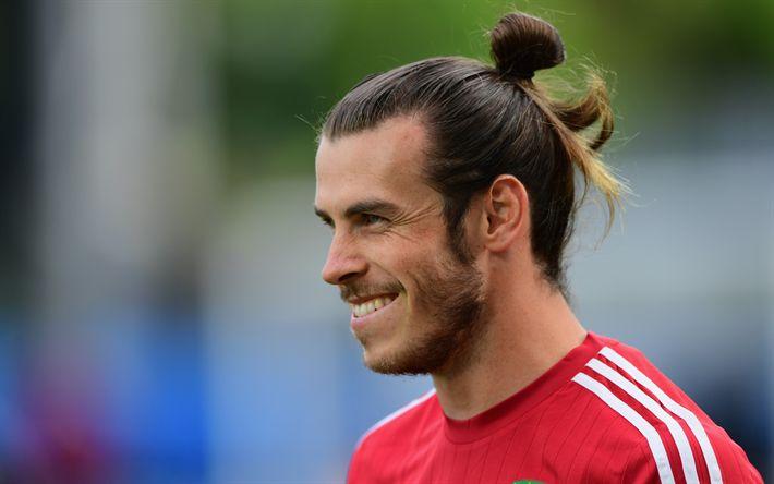 Hämta bilder Gareth Bale, Real Madrid, leende, porträtt, Walesiska fotbollsspelare, Spanien
