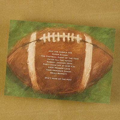 Football - Party Invitation - Shimmer ~ available through www.JaniceBlackmonEvents.carlsoncraft.com