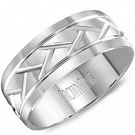 Crownring Mens Wedding Rings