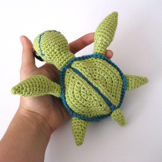 Marty die Meeresschildkröte Amigurumi Häkeln von irenestrange