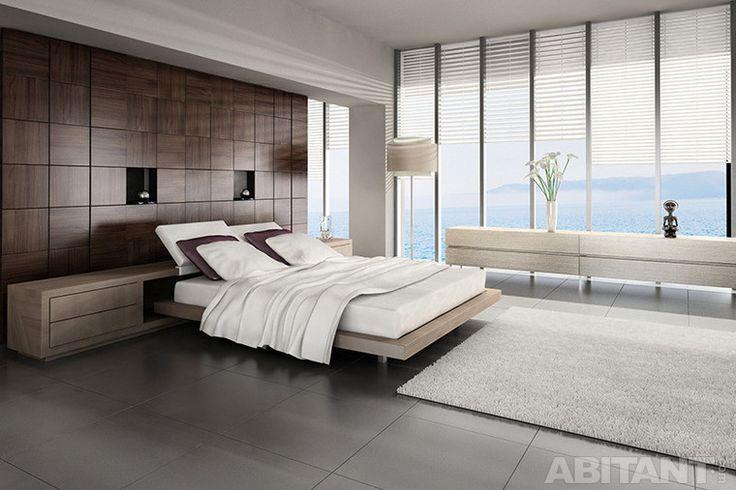 Минималистская спальня с деревянными буазери