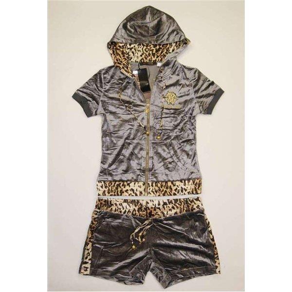 Костюмы леопардовые серый