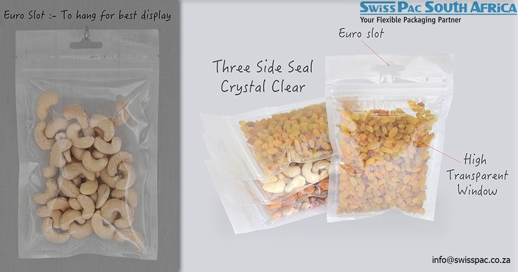 #Threesidedsealedbags are one of the most frequently used types of packaging. We at Swiss Pac provide #stock and #custom options for our three side sealed bags.