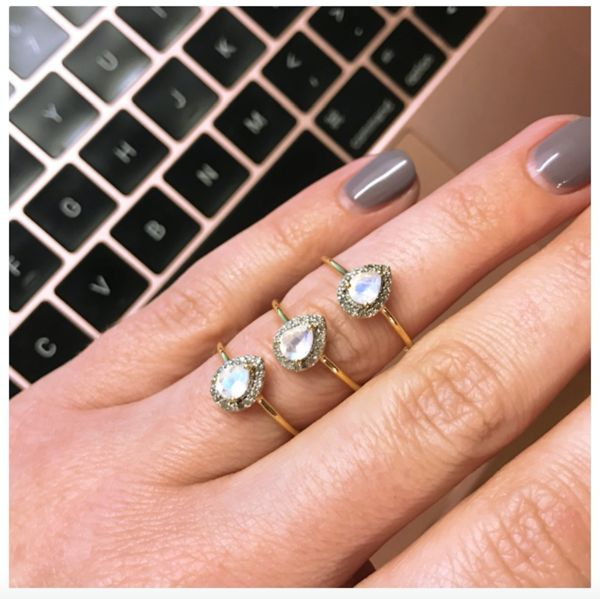 Our pear shaped diamond and semi precious ringsare super beautiful. The simplicity of the design ensures that these perfect for every day wear, but they are be