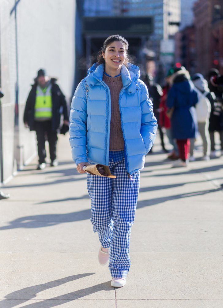 Pin for Later: 25 NYFW Street Style Trends We're Shopping Now A Bold Puffer Coat
