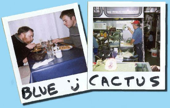 "Blue Cactus Cafe - Amazing Korean food! Blue Cactus is part of the ""slow food"" movement so be prepared to wait but it'll be worth it. Can't go wrong with the bee bim bop. It's their most popular dish."