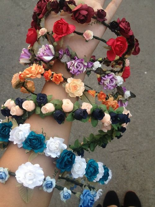 Flower headbands for EDC, or basically any rave, are a staple!