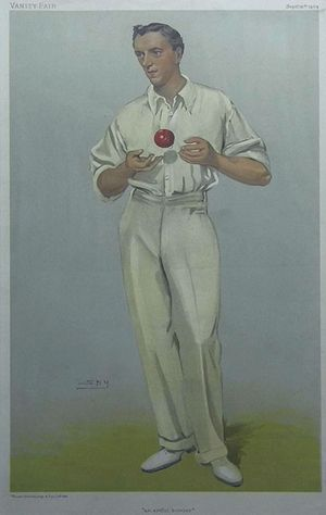 An Artful Bowler [Bernard James Tindall Bosanquet] by Vincent Brooks, Day & Son