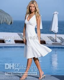 new short beach wedding dressbride dressany size01513