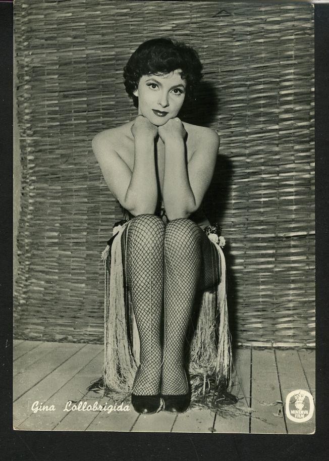 "Vintage Gina Lollobrigida in Fish Nets Italian 1950s Postcard ""Beautiful Star"" | eBay"