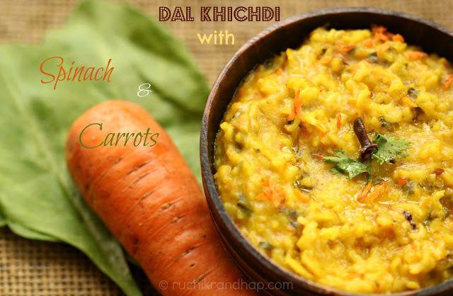 Dal Khichdi (Lentil Porridge) with Spinach