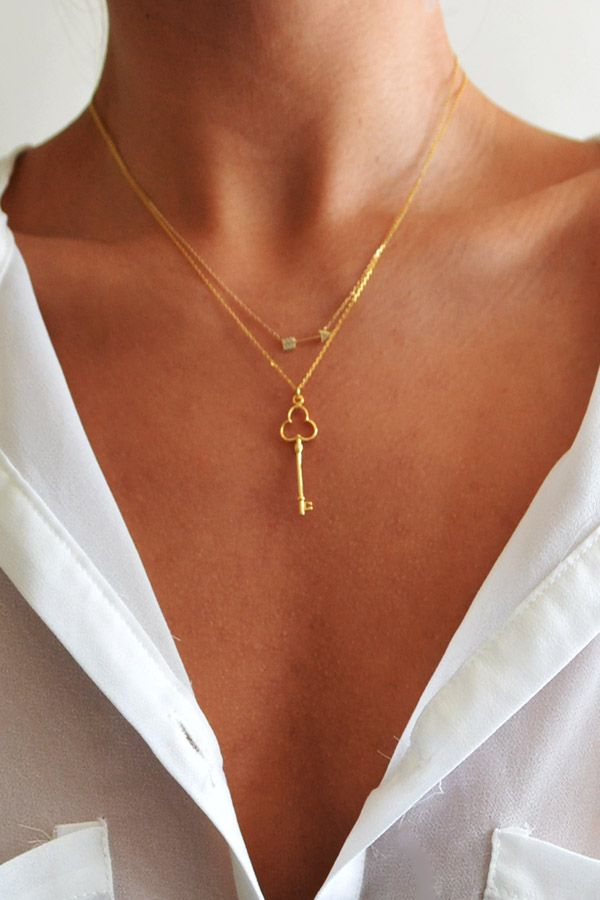 I like the idea of layering two delicate necklaces like this. I also really like both of these necklaces.