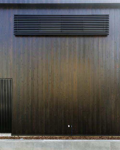 世田谷で完成しました「ふたりの家」。Burnt Cedar Board = Shou Sugi Ban
