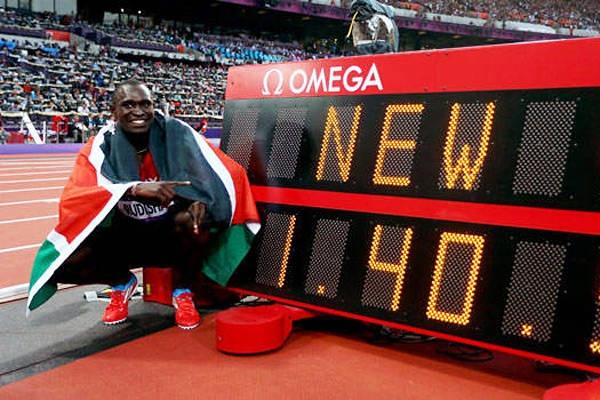 Kenyan David Rudisha killing 800 meters