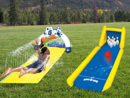 Splash Dunk Slip N Slide And Bowl A Rama Backyard Bundle From Shaq
