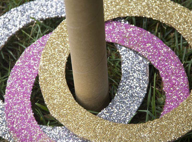 Glitter ring toss