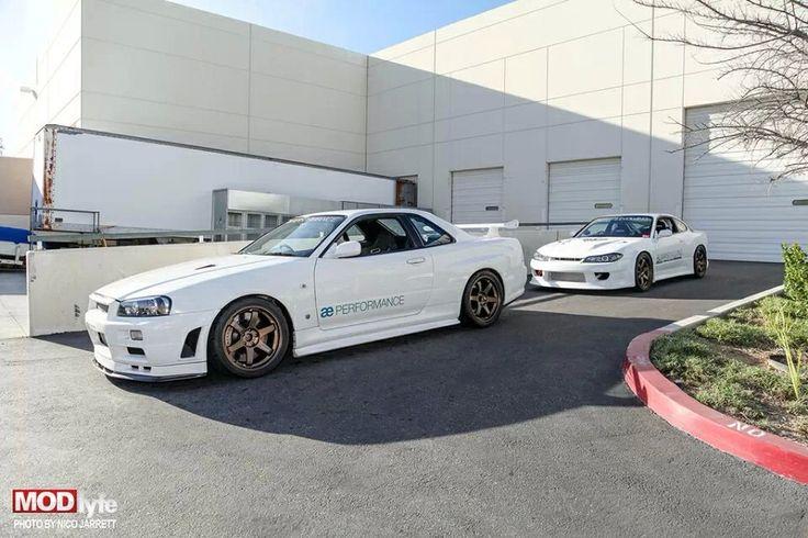 Paul Walkers Nissan Skyline GTR R34 & Nissan Silvia S15 AE Performance