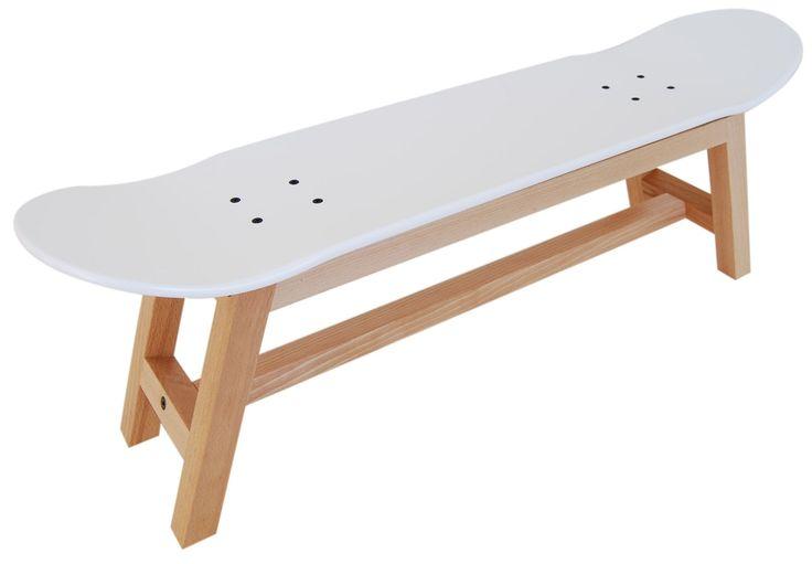 Nollie Heelflip stool, nordic white - Skate-Home | Skateboard Furniture Design
