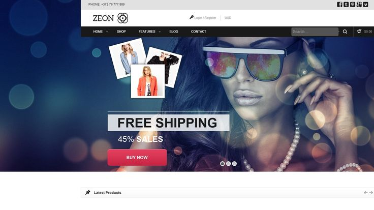 Zeon eCommerce WordPress Theme. Download Free andPremium WP Templates 2014. Blog, eShop, online store eCommerce website. Responsive html5 css3 mobile ready