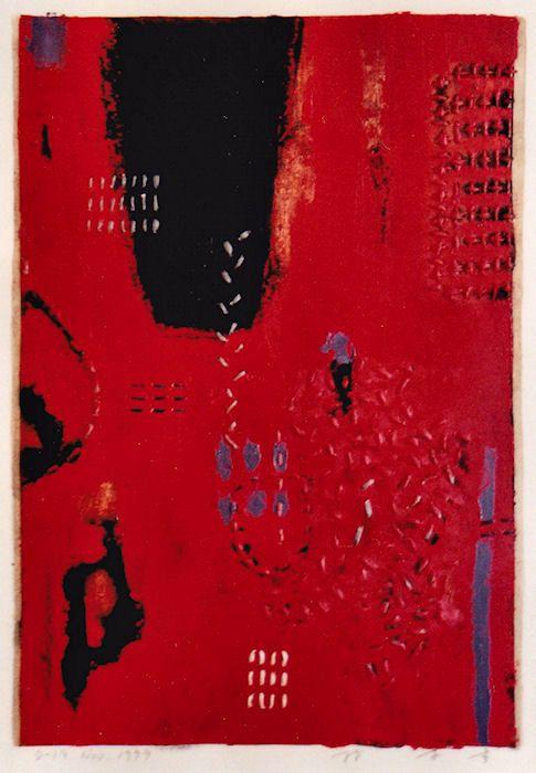 D-19.Nov.1999 mixed media painting on paper HAYASHI Takahiko 林孝彦