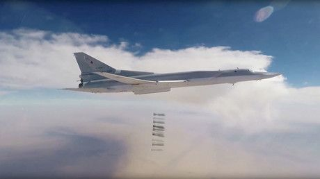 Russian strategic bombers strike ISIS targets in south-east Syria for third day – military https://tmbw.news/russian-strategic-bombers-strike-isis-targets-in-south-east-syria-for-third-day-military  The Russian Air Force continues its efforts to help the Syrian government completely eliminate Islamic State (IS, formerly ISIS/ISIL) in Syria, with its long-range bombers having carried out a new successful airstrike on terrorists' positions.Six Tu-22M3 strategic bombers, with air cover provided…