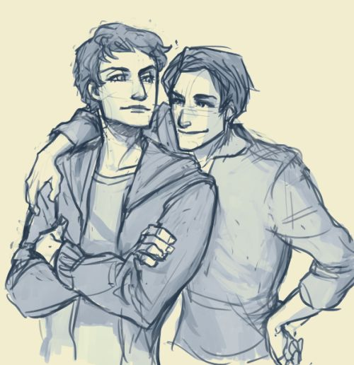 Scott and Isaac being bros, for my BB Grimm.