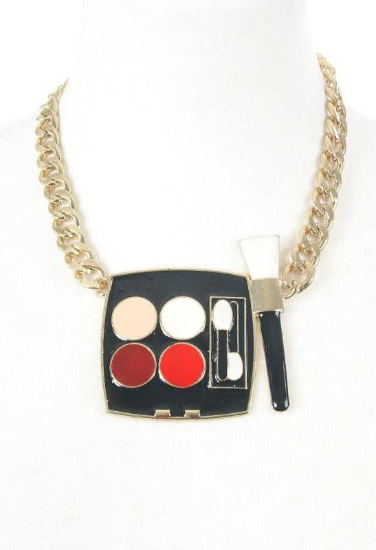 bouFFante Halsketting met geëmailleerde hanger van oogschaduw palet online kopen