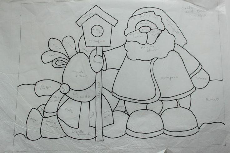 Moldes patchwork Navidad - Imagui