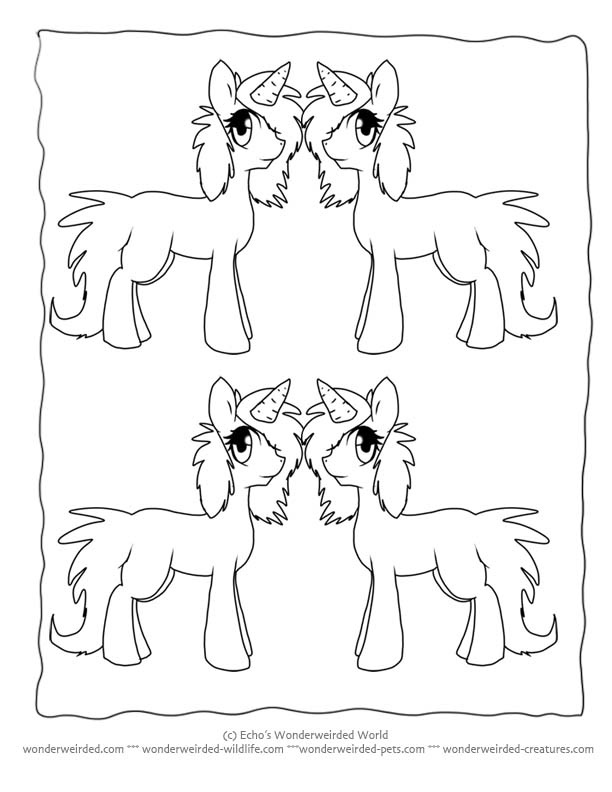 Cartoon Unicorn Coloring Pages Echos Pictures Original Drawings Of Cute Unicorns Chico And Realistic