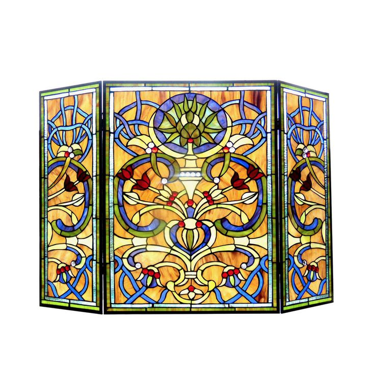 29 best Art: Stain glass fireplace screens images on Pinterest ...
