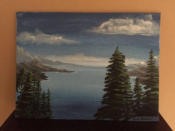 Ocean View Original Acrylic Painting by KristiBonham on Etsy