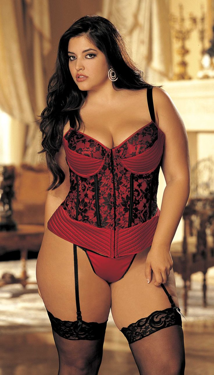Plus size lingerie models 8