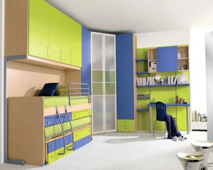 Boys Bedroom Nice Lime Green And Blue Color Scheme For