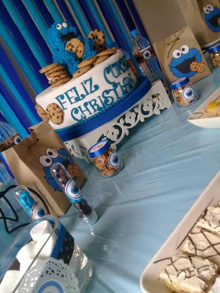 Decoración  fiesta infantil  Monstruo  come galletas Torta, tubos de  ensayo, bolsas de sorpresas