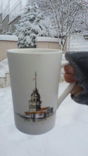 Karda kahve keyfi ⛄❄⛄❄
