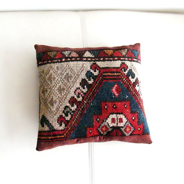 Cushion Covers – Antique Seat Cushion, Mini Kilim Pillow – a unique product by RitzySelection on DaWanda