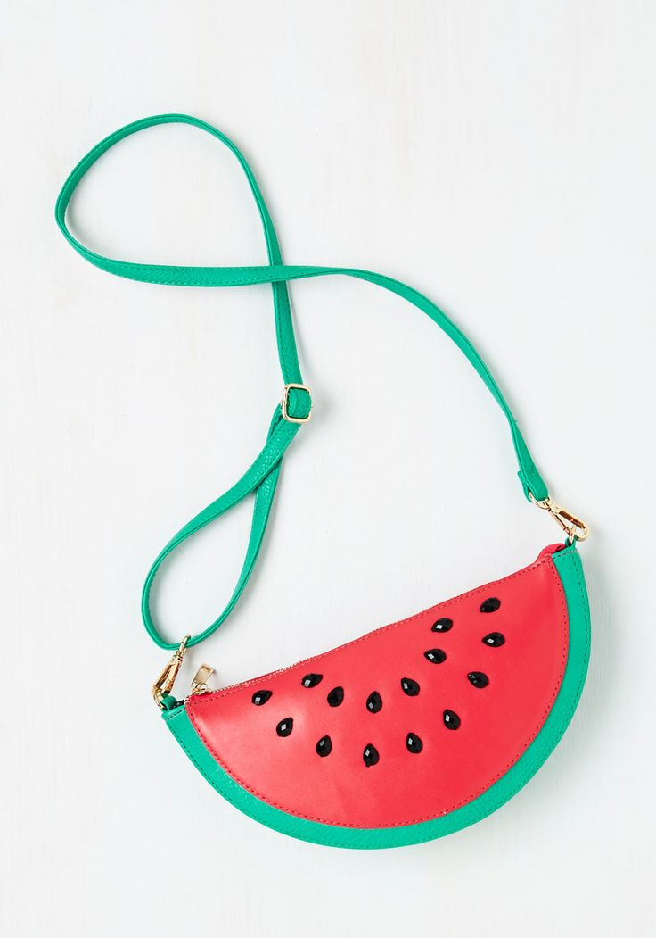 Forever Fruitful Bag - Red, Green, Black, Fruits, Faux Leather, Mixed Media, Statement, Gals, Quirky, Party, Top Rated