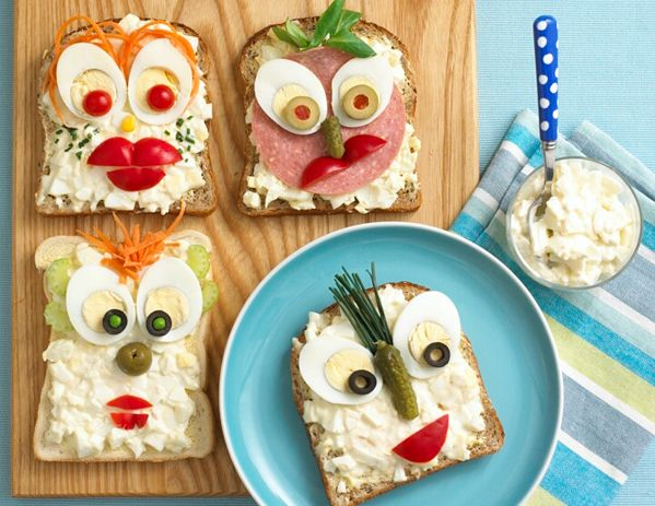 Making food attractive and fun can really make a different between your fussy eater accepting or refusing food. Presentation is very important to a child and fortunately sandwiches can come in many different shapes, sizes and colour so you can be really creative.