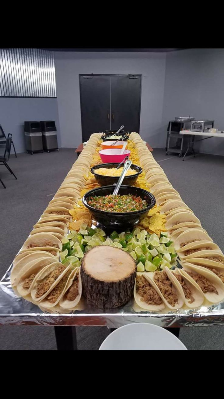 Taco bar setup  Official Baby Shower for Jo in 2019  Food Taco bar party Taco bar