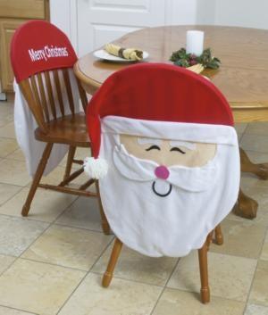 $15 Merry Christmas Santa Chair Covers - Set of 2
