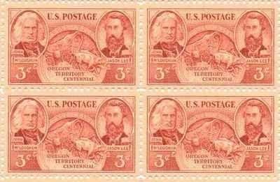 Oregon Territory Centennial Set of 4 x 3 Cent US Postage Stamps NEW Scot 964 . $4.95. Oregon Territory Centennial Set of 4 x 3 Cent US Postage Stamps NEW Scot 964