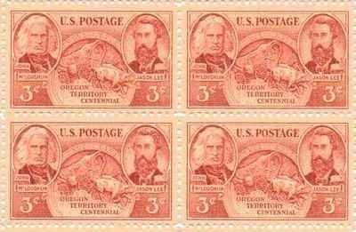 Oregon Territory Centennial Set of 4 x 3 Cent US Postage Stamps NEW Scot 964…