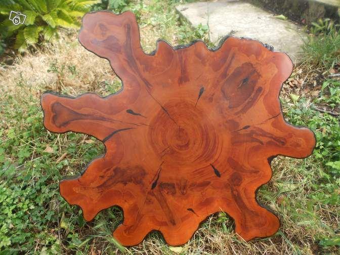 table en tranche d 39 arbre bois massif artisanale ameublement alpes maritimes. Black Bedroom Furniture Sets. Home Design Ideas