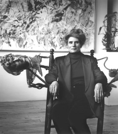 Nancy Graves (1939-1995) in 1992. photo Barbara Yoshida    A sculptor, painter, printmaker, and sometime-filmmaker known for her focus on natural phenomena.  She was the first woman to receive a solo retrospective at the Whitney Museum.