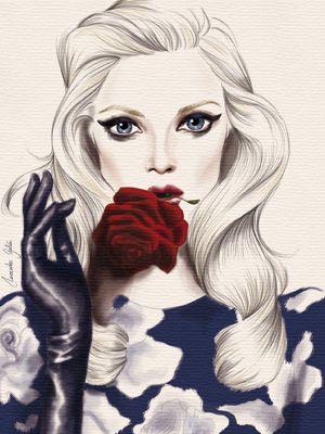 Mercedes Galán, ilustracion de moda. Me encanta !