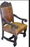 Leather Mesquite chairs, Mesquite arm chairs, Wooden benches, Spanish style chairs, Dinette Sets, Southwestern style chairs, Mexican look chairs, rustic chairs and benches