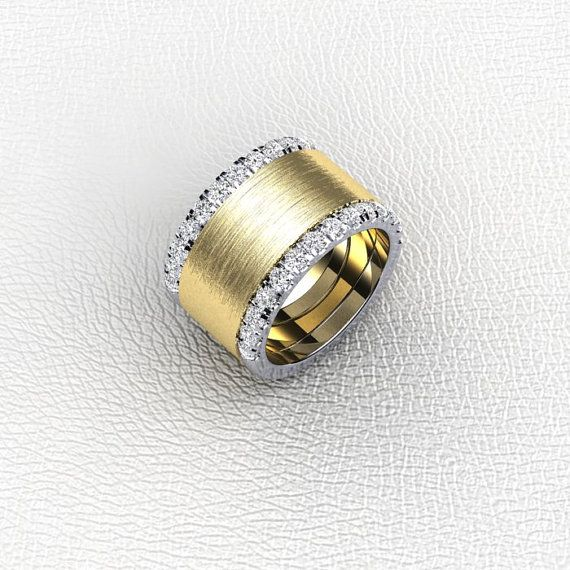 Cigar Band- 14K two tone diamond and gold ladies Cirar band by Masterjeweler, $2295.00