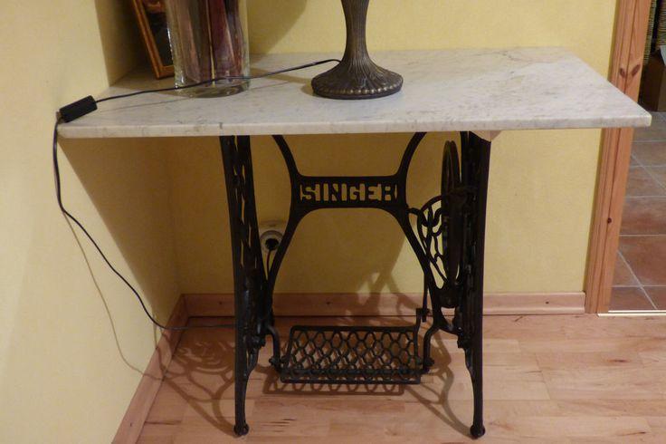 singer n hmaschinengestell gusseisen untergestell n hmaschine tisch marmorplatte s nger. Black Bedroom Furniture Sets. Home Design Ideas